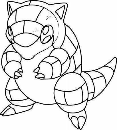 Pokemon Sandshrew Coloring Pages Printable Cartoon Categories