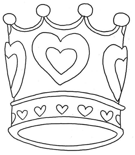 crown coloring page getcoloringpagescom