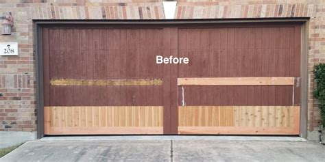 wood garage door repair austins greater garage doors