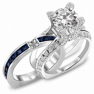 How to choose the unusual engagement ring settings ring for Sapphire engagement ring and wedding band set