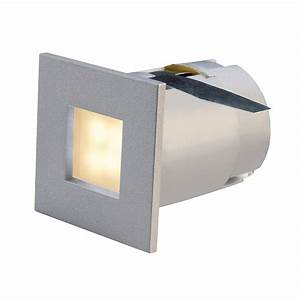 Small square led recessed stair light or plinth