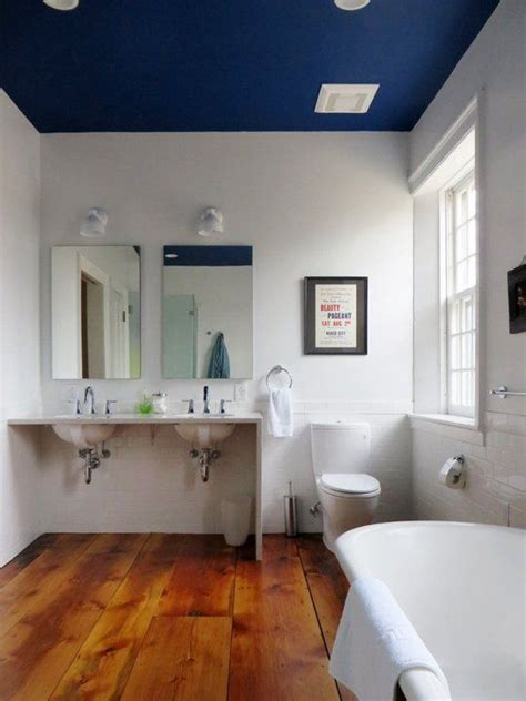 dip a toe into bold color painted ceilings in the bathroom editor s choice inspiring ideas