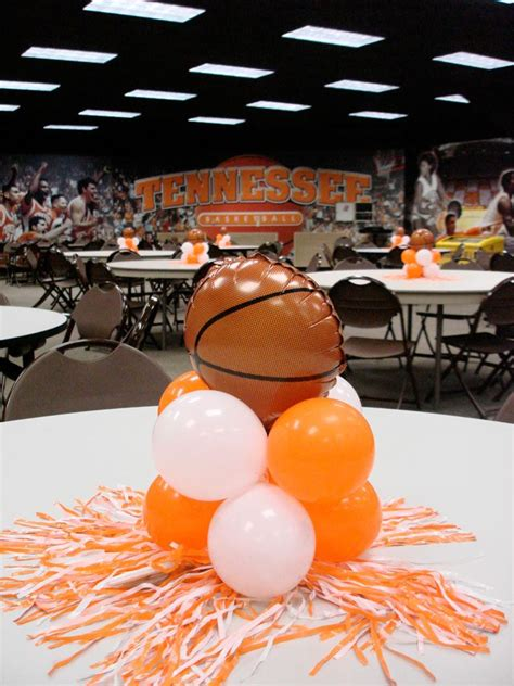 sports centerpieces for tables sporting event decor knoxville balloons party decor