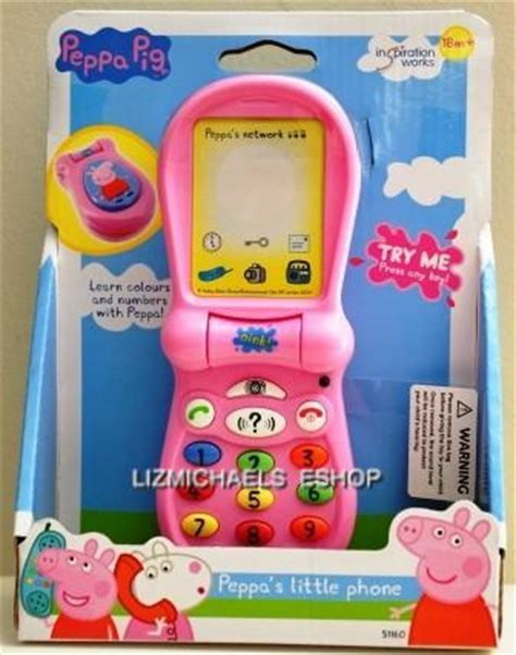 peppa pig phone wow licensed peppa pig peppa flip phone w lights