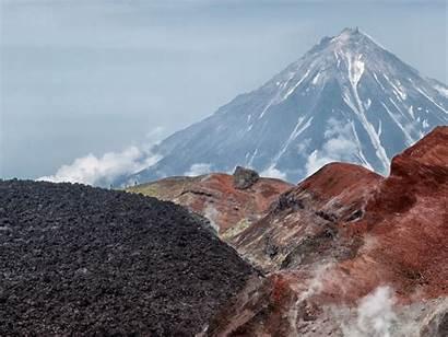 Kamchatka Peninsula Russia Volcano Mountains Landscape Nature