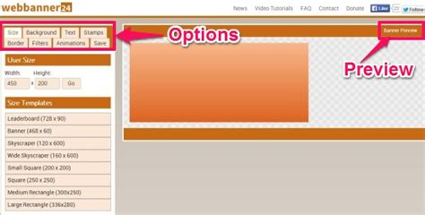 Webbanner24 Free Banner Making Website To Create Animated