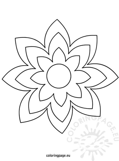 large printable flower template coloring page