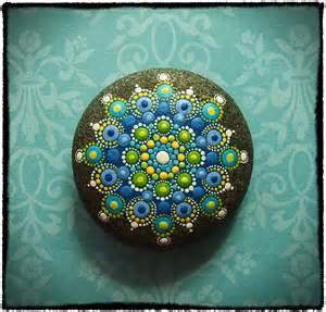 Mandala Painted Drop Jewel Stone