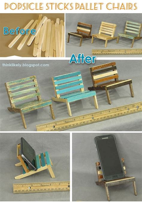 mini popsicle sticks pallet chairs popsicle stick crafts