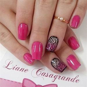 Image Gallery pink nails