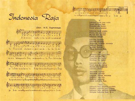naskah asli lirik lagu indonesia raya beserta  balok