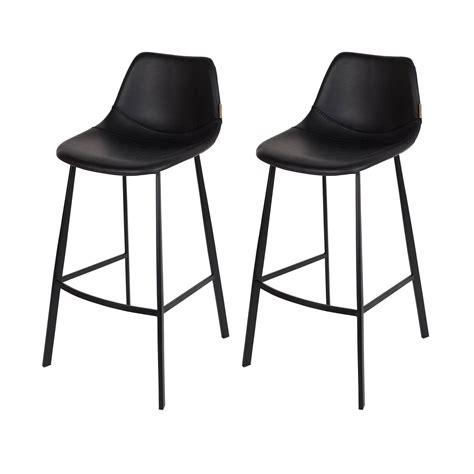 chaise de bar noir tabouret de bar franky noir commandez nos tabourets de