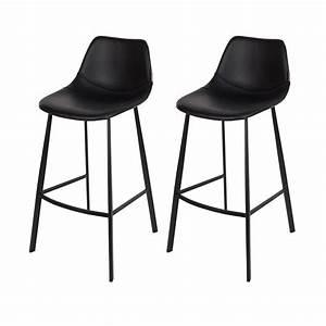 Tabouret De Bar Noir : tabouret de bar franky noir commandez nos tabourets de ~ Melissatoandfro.com Idées de Décoration