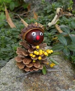 Basteln Mit Tannenzapfen Herbst : basteln im herbst bastelvorlage eichel kastanie deko basteln ~ Eleganceandgraceweddings.com Haus und Dekorationen