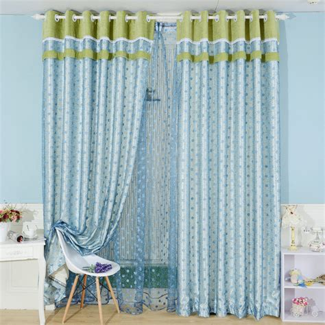 embroidery blue bedroom buy window curtains