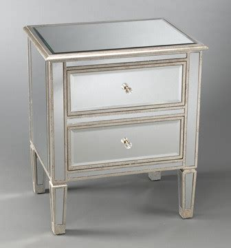 mirrored end tables nightstands two drawer mirrored bedside table eclectic nightstands