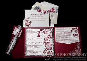 wine dahlia embossed diy pocketfold invitations With diy wedding invitations illustrator