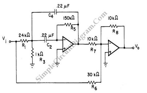 notch filter design bandpass filter high q bandpass filter with op