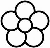 Flower Petal Five Wikimedia Commons Svg Coloring Icon Larger Credit sketch template
