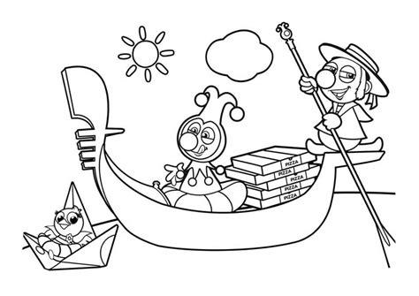 desenho de gondola  barquinho  colorir tudodesenhos