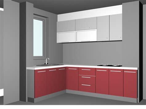 L shaped pink kitchen design 3d model 3dsMax files free