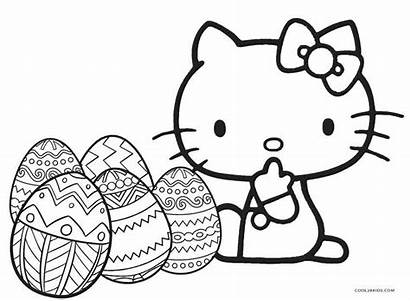 Kitty Hello Coloring Pages Easter Printable Halloween