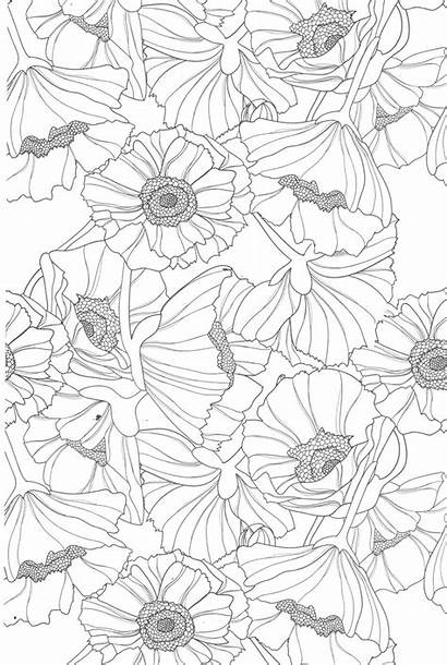 Coloring Pages Teens Printable Flowers Colouring Sheets
