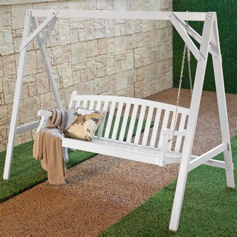 white porch swing wood porch swing stand white frames accessories at