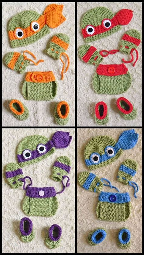 Free Crochet Diaper Cover Pattern 0 3 Months by Ninja Turtles Crochet Baby Hat Diaper Cover Photo Prop