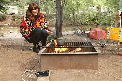 Pot Phone Fire Campfire Animated Camping Giphy