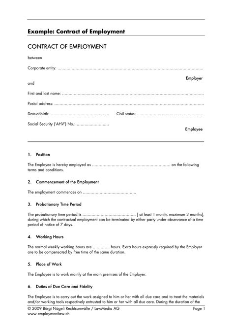 21+ Employment Contract Templates - Docs, Word, Pages | Examples