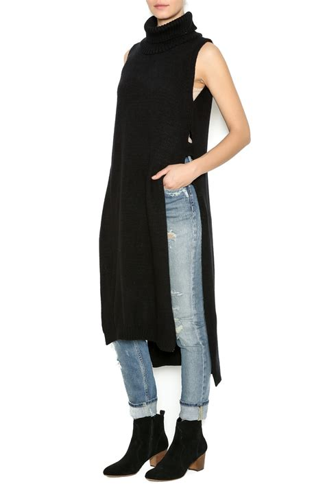 sleeveless turtleneck sweater miss poem sleeveless turtleneck sweater from san francisco