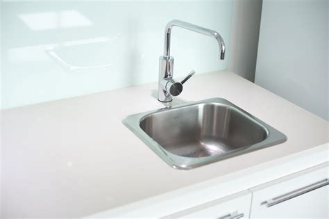 stock photo  stainless steel sink  faucet