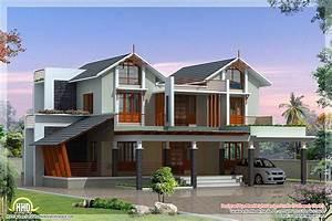 modern and unique villa design kerala home design and With unique homes designs