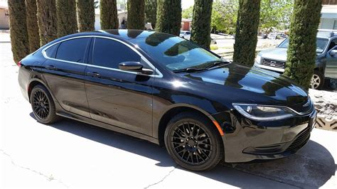 2015 chrysler 200 tinted windows and black rims cars