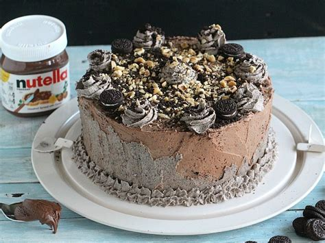 oreo nutella cake sweet  savory meals