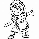 Rag Doll Coloring Toys Freeprintablecoloringpages sketch template