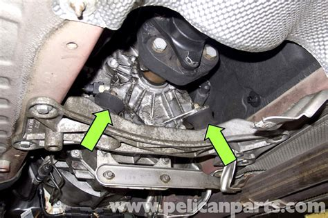 bmw e90 transmission mount replacement e91 e92 e93 pelican parts diy maintenance article