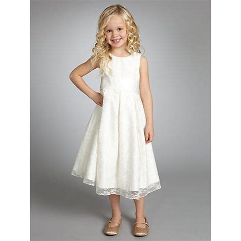 buy john lewis girl empire  lace bridesmaid dress