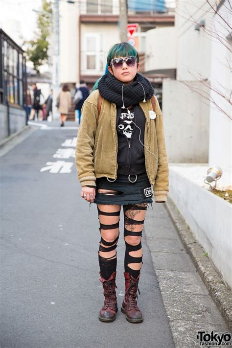 diy outfit  torn tights dr martens boots vortex sunglasses good rockin accessories