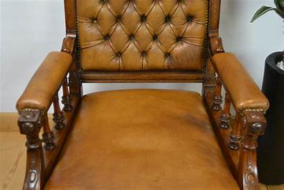 Leather Library Chairs Antique Armchairs England Swipe