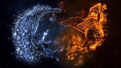 Fire Wallpapers Background Cool Ice Water Awesome