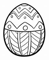 Easter Egg Coloring Simple Pages Ads Creative sketch template