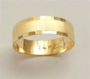 gold womens wedding band gold wedding band wedding ring 6mm wide ring for