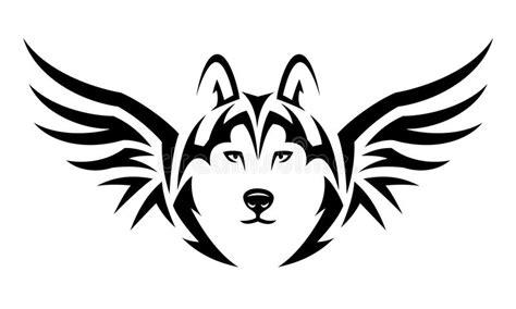 flying wolf tattoo stock vector illustration  tribal