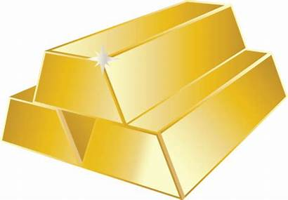 Gold Clip Clipart Bar Cliparts Bullion Borders