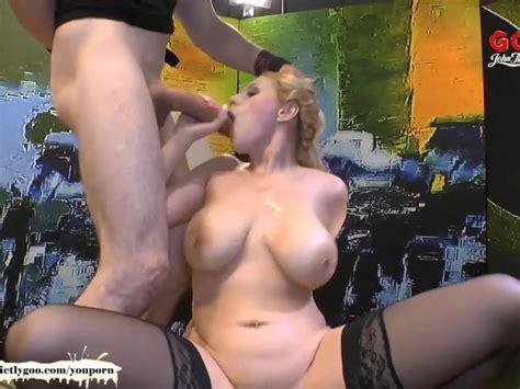 Angel Wicky Big Natural Tits Cum Covered German Goo