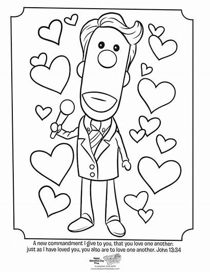 Coloring God Valentine Pages Jesus Valentines Another