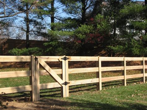 Kentucky Post And Board Fence