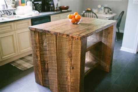 custom reclaimed kitchen island   north designs